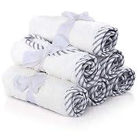 San Francisco Baby 优质婴儿浴巾 - * 竹制婴儿毛巾 6 件套 - 超柔软吸水婴儿浴巾套装 - 送给男宝宝或女孩的完美婴儿送礼礼物