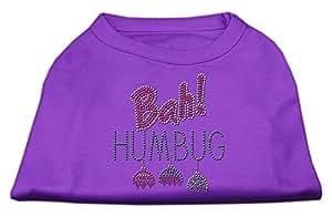 "Mirage Pet Products 16"" Bah Humbug 水钻狗衬衫 紫色 X大码"