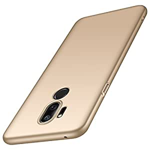 Anccer LG G7 手机壳,LG G7 ThinQ 手机壳【彩色系列】【超薄】【防摔】优质材料超薄*保护壳 适用于 LG G7 2018 金色
