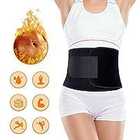 Portzon 男士和女士腰部修剪器,氯丁橡胶腹部包裹,锻炼和健身腰带可调节苗条身材