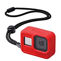 Elecom宜丽客 GoPro HERO8 Black 手机壳 ZEROSHOCK 红色 AC-GP8BZEROCRD