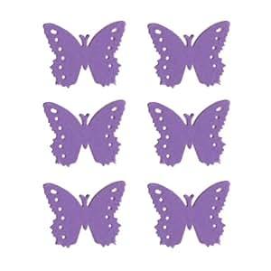 Dress My Cupcake 纸模切适合派对装饰,DMCE1112,Monarch Butterflies Fancy,淡紫色,50 件套