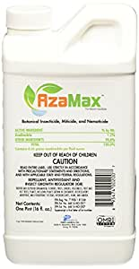 General Hydroponics Azamax GH2007 Antifeedant and Insect Growth Regulator, 16 Ounce