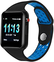 SUNETLINK 智能手表手机,触摸屏蓝牙手机手机手表支持计步器分析/*监测,带摄像 NFC ,适用于 Android 智能手机