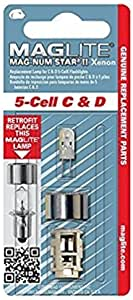 Maglite Replacement Lamp for 5-Cell C or D Flashlight, 1 pk