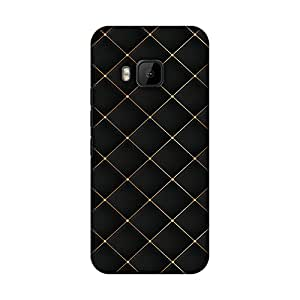 amzer 修身手工定制设计师印花硬壳保护套背部外壳适用于 HTC ONE M9 Golden Elegance