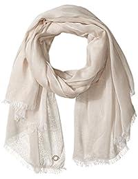 Calvin Klein 卡尔文·克雷恩女式纯色条纹围巾