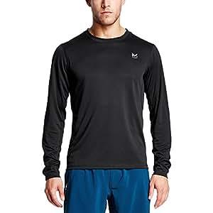 Mission Men's VaporActive Alpha Long Sleeve Shirt, Moonless Night, X-Large