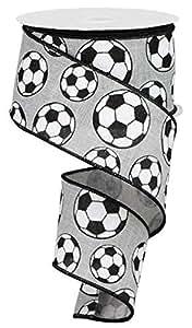 """运动闪光有线丝带 - 10 码 Soccer, Light Grey 2.5"""" RGA115810"""