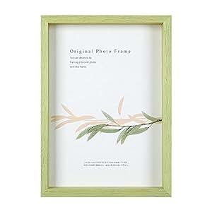 A . P J . アートボックスフレーム (高:35mm ) 彩纸尺寸(245× 275mm )  パステルグリーン