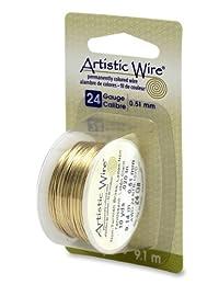 Artistic Wire 24 Gauge 无锈铜线,10 码