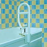 Homecraft 坚固浴缸扶手把,浴缸夹在扶手上,用于淋浴或浴室的老人生活辅助工具,家用浴室*配件手柄,适用于肥胖、停用、受伤或后使用