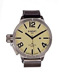 VII-A U-Boat 男士 自動上鏈 手表 Classico AS2 米色 45 指針式 皮革 5565