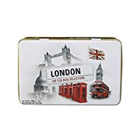 New English Teas London Selection Tin (Pack of 1, Total 100 Teabags)