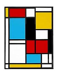 Pinsanity Mondrian 抽象艺术珐琅翻领别针