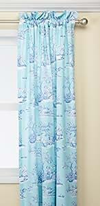 C&F Home Hampstead 厕所窗帘面板,蓝色/白色
