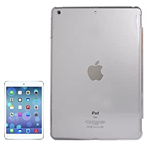 JUJEO Smooth Surface Translucent Smart Cover Partner Crystal Protective Case for iPad Air, Transparent (S-IP5D-0070T)