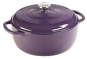 Lodge洛奇Color EC6D93 搪瓷铸铁锅  紫色  6 夸脱(5.676升)