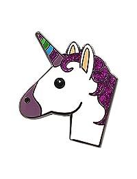 Real Sic Unicorn 珐琅别针 - 闪亮表情符号独角兽翻领别针*可爱卡哇伊配饰背包、夹克、帽子和上衣
