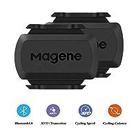 Magene S3+ 自行车速度和节奏传感器,ANT+ 和蓝牙 4.0 无线自行车 RPM 传感器