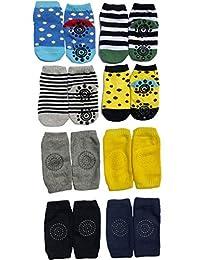 Baby Grip 防滑袜和护膝护腿套,儿童,幼儿,4件装