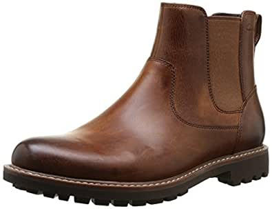 Clarks Men's Montacute Top Boots Brown (Dark Tan Lea) 7 UK