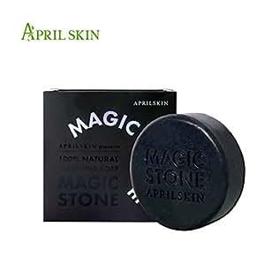 April skin韩国专柜正品包邮 洁合净白深层收缩毛孔 魔法美石 天然洁面皂magic stone超人气香皂 日夜皂