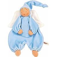 Kathe Kruse Organic Gugguli Angel 毛绒玩具,浅蓝色