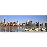 芝加哥天际线全景冰箱磁贴