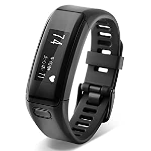 Garmin 佳明 vivosmart HR 黑色 智能光学心率手环心率实时监测自动睡眠监测来电提醒运动蓝牙手表计步器
