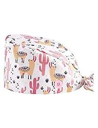 FAHOTE 工作帽 带纽扣和吸汗带 可调节系带 棉质工作帽 多色 印花 海巾 均码 男女通用