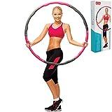 N1Fit Hula Hoop �C 原创可调节式成人发箍,卡路里,泡沫填充加重呼拉环,非常适合运动,修身腰围,减重(2磅)儿童理想的发箍