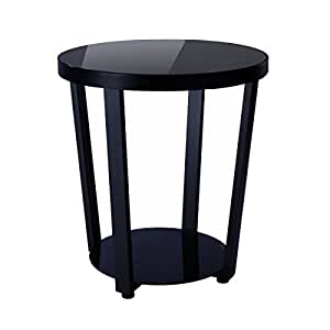 1208S 圆形玻璃顶部沙发侧桌小空间客厅咖啡桌