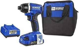 Kobalt 24 伏*大锂离子(锂离子)1/4 英寸(约 0.6 厘米)无绳变速无刷冲击起子带软壳