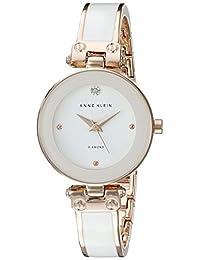 Anne Klein 女士镶钻手镯手表,White/Rose Gold,均码
