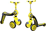 Allkindathings BI288AYellow 2 合 1 滑板车和平衡自行车,黄色