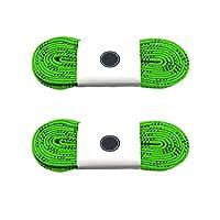 Silfrae 打蜡滑冰曲棍球鞋带两对出售,重型完美适合曲棍球和冰鞋、靴子,多尺码多色可选。 108'' 浅绿色