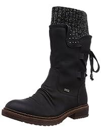 Rieker 女 中筒靴 94773(亚马逊进口直采,德国品牌)