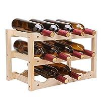 Yandex 实木创意折叠红酒架 家居 葡萄酒架 坚固耐用 可收纳12瓶酒(供应商直送)