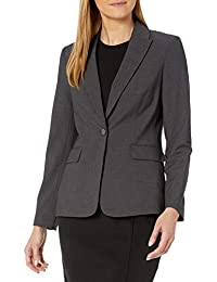 Calvin Klein 女士一粒扣Lux 外套