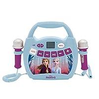 Lexibook MP300FZZ 迪士尼冰雪奇缘2 ELSA,安娜-Mein *音乐播放器,带 2 个玩具麦克风,无线,录音功能,声音效果,蓝色 / 紫色