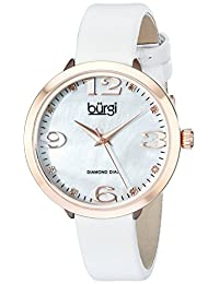 Burgi 石英女士手表 BUR119WTR(亚马逊进口直采,美国品牌)