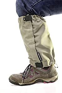 Dog Not Gone NFZ Human Vest XS Tick & Mosquito Repelling Gaiters, Small, Olive Green