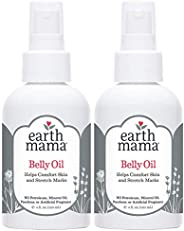 Earth Mama Angel Baby Oil, 4 Ounce - Natural Stretch (2 Pack)
