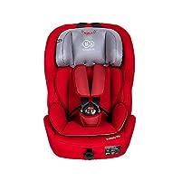 德国 KinderKraft可可乐园儿童汽车安全座椅SAFETY-FIX系列中国红(适合9-36kg,9个月-12岁,ISOFIX硬接口,TopTether系统,双重侧翼保护,头枕高度可调节)