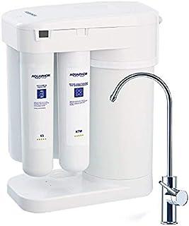 Aquaphor 水过滤器 RO-101 反渗透水过滤系统 7 阶段非电动紧凑水槽槽下无需增压泵,获得 的无空气水箱再矿化盒