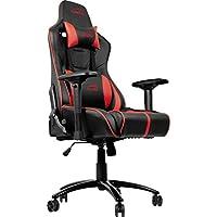 SpeedLink SL-660003-BKRD Ariac 游戏椅带 4D 扶手和 360 度旋转,黑色/红色