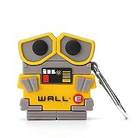 caicaishucaidian 兼容Airpods 1和2,搞笑3D卡通硅膠墻·E設計,適合時尚女孩兒童青少年男孩Airpods外殼(Wall·E)