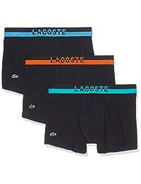 Lacoste 鳄鱼 男式 彩色 平角内裤 撞色腰带 蓝色 尺码 M 号 RAMC302BL1M