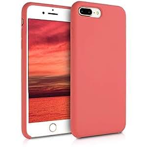 kwmobile TPU 硅胶手机壳适用于苹果 iPhone 7 Plus / 8 Plus - 柔软灵活的减震保护手机壳 - 紫红色40842.106_m000590 .fuchsia 哑光